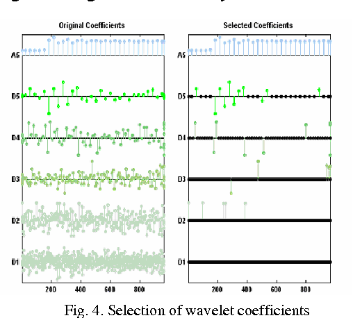 Fig. 4. Selection of wavelet coefficients