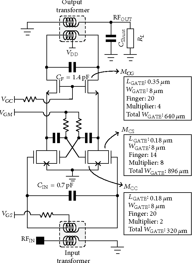 figure 6 from 2 4 ghz cmos power lifier with mode locking  figure 6 from 2 4 ghz cmos power lifier with mode locking structure to enhance gain semantic scholar
