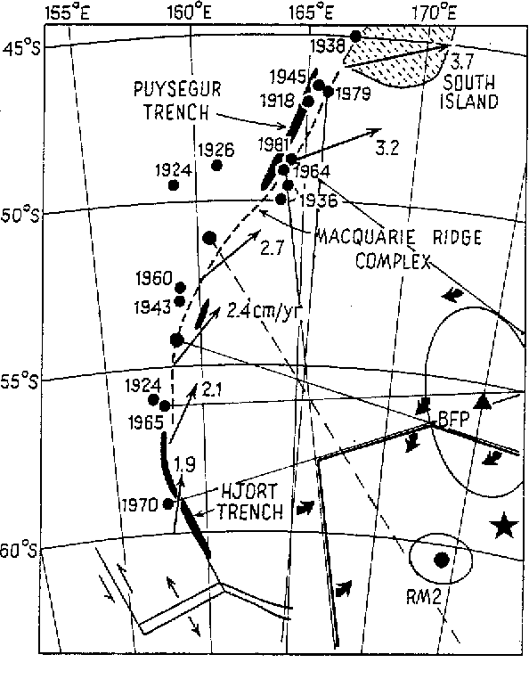 Figure 28 From Large Earthquakes In The Macquarie Ridge Complex