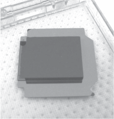 Fig. 6. Hybridized CLASS 40 GHz micromachined TES detector.