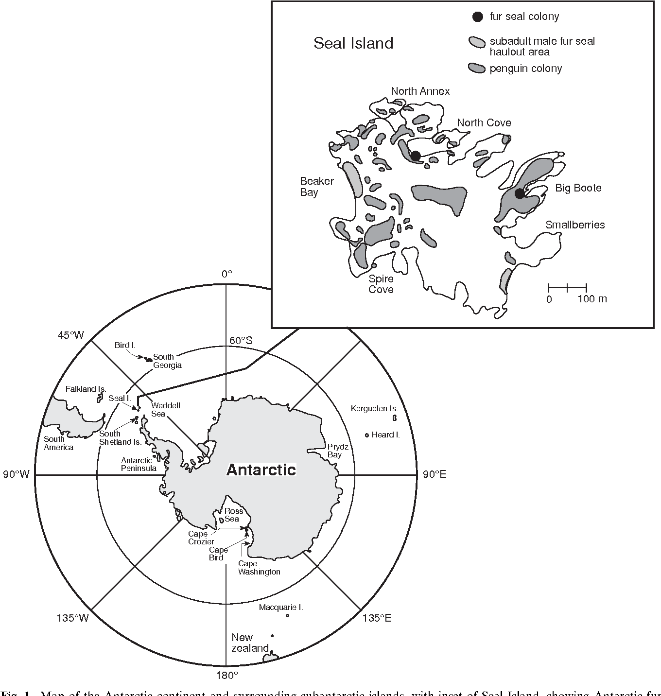Figure 1 from Hunting and social behaviour of leopard seals ...