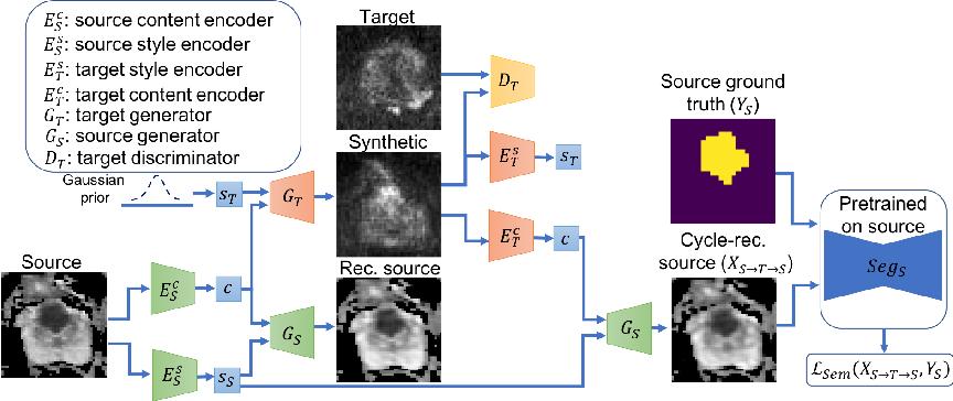 Figure 3 for Unsupervised Domain Adaptation with Semantic Consistency across Heterogeneous Modalities for MRI Prostate Lesion Segmentation