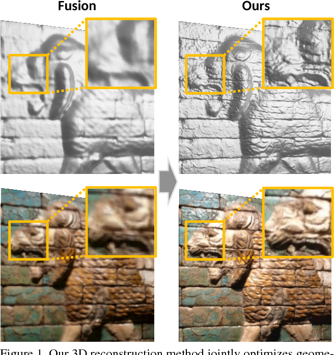 Figure 1 for Intrinsic3D: High-Quality 3D Reconstruction by Joint Appearance and Geometry Optimization with Spatially-Varying Lighting