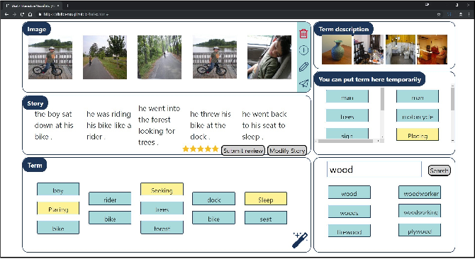 Figure 3 for Dixit: Interactive Visual Storytelling via Term Manipulation