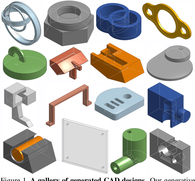Figure 1 for DeepCAD: A Deep Generative Network for Computer-Aided Design Models
