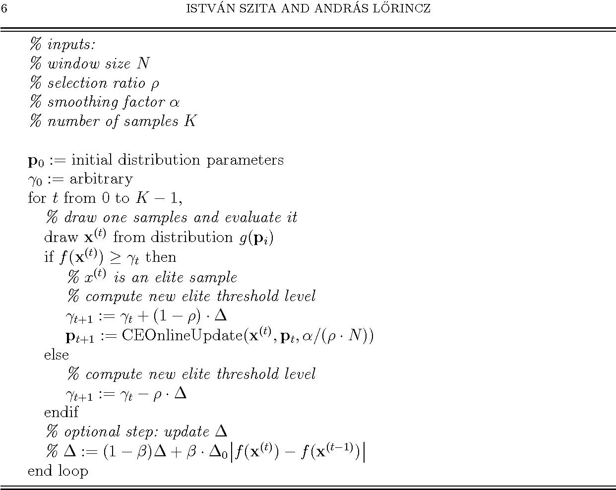 Figure 3 for Online variants of the cross-entropy method