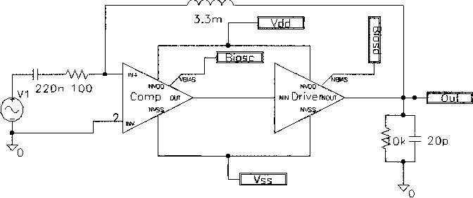 Fig. 13. Test circuit with pole compensation.