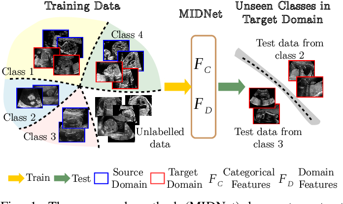 Figure 1 for Mutual Information-based Disentangled Neural Networks for Classifying Unseen Categories in Different Domains: Application to Fetal Ultrasound Imaging