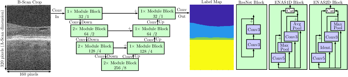 Figure 1 for Efficient Neural Architecture Search on Low-Dimensional Data for OCT Image Segmentation