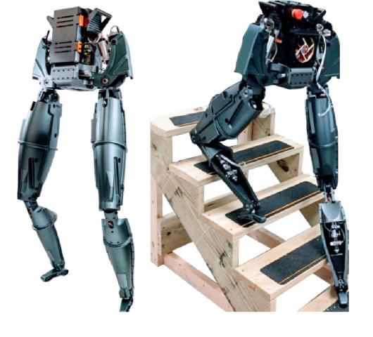 Figure 1 for Control of A High Performance Bipedal Robot using Viscoelastic Liquid Cooled Actuators
