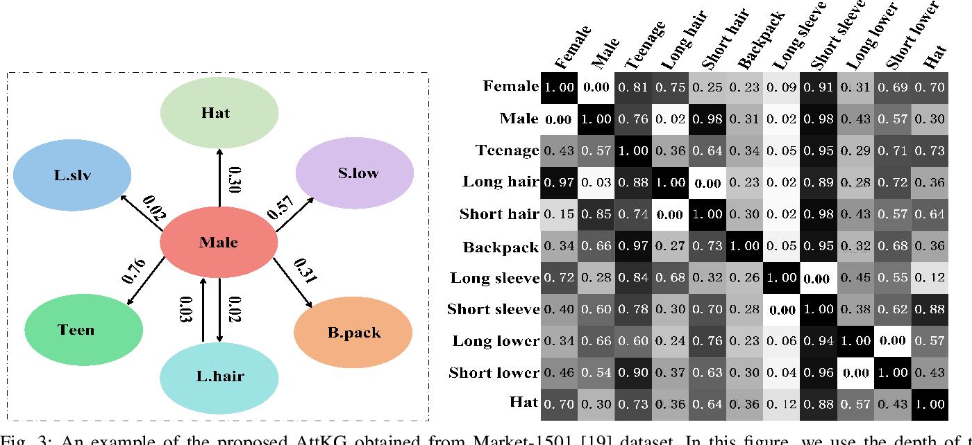 Figure 3 for AttKGCN: Attribute Knowledge Graph Convolutional Network for Person Re-identification