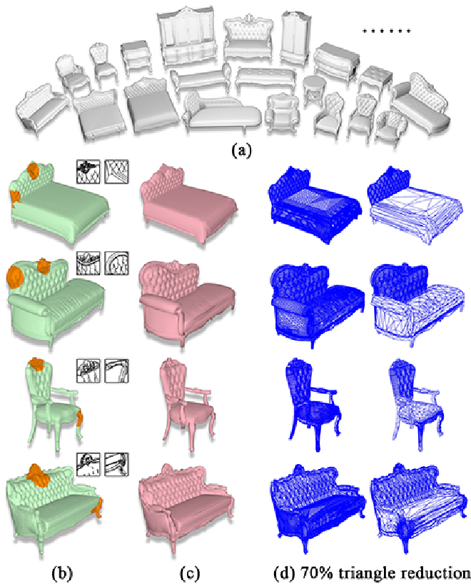 Figure 1 for Semi-Supervised Co-Analysis of 3D Shape Styles from Projected Lines