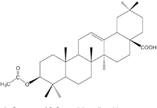 Figure 1. Structure of 3-O-acetyloleanolic acid.