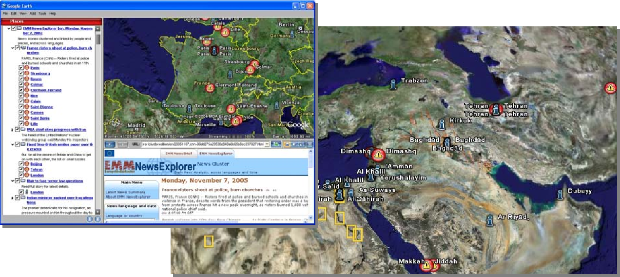 Figure 4 for Geocoding multilingual texts: Recognition, disambiguation and visualisation