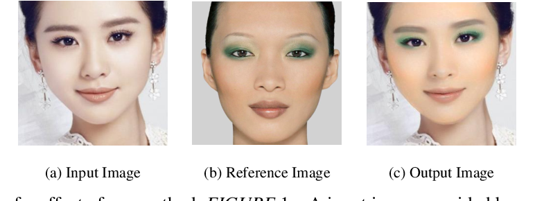 Figure 1 for Facial Makeup Transfer Combining Illumination Transfer