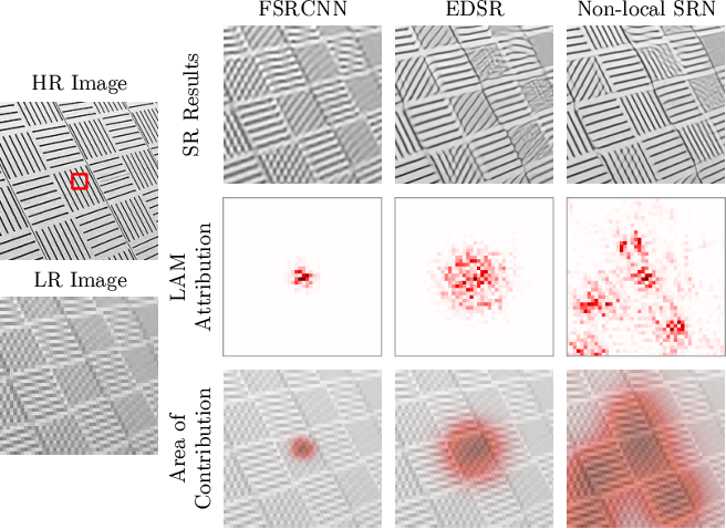 Figure 1 for Interpreting Super-Resolution Networks with Local Attribution Maps