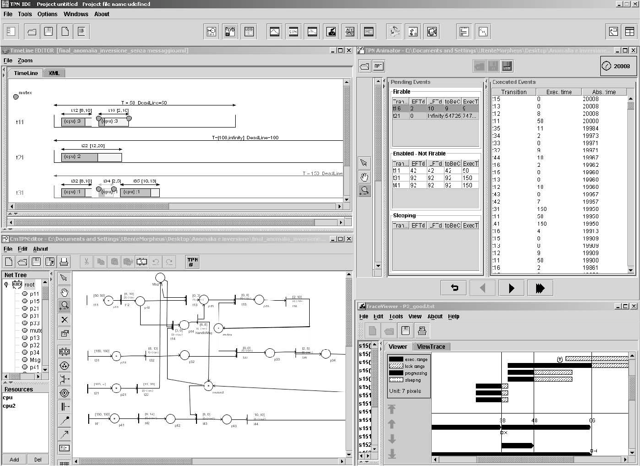 Figure 2. A screenshot of the ORIS environment.
