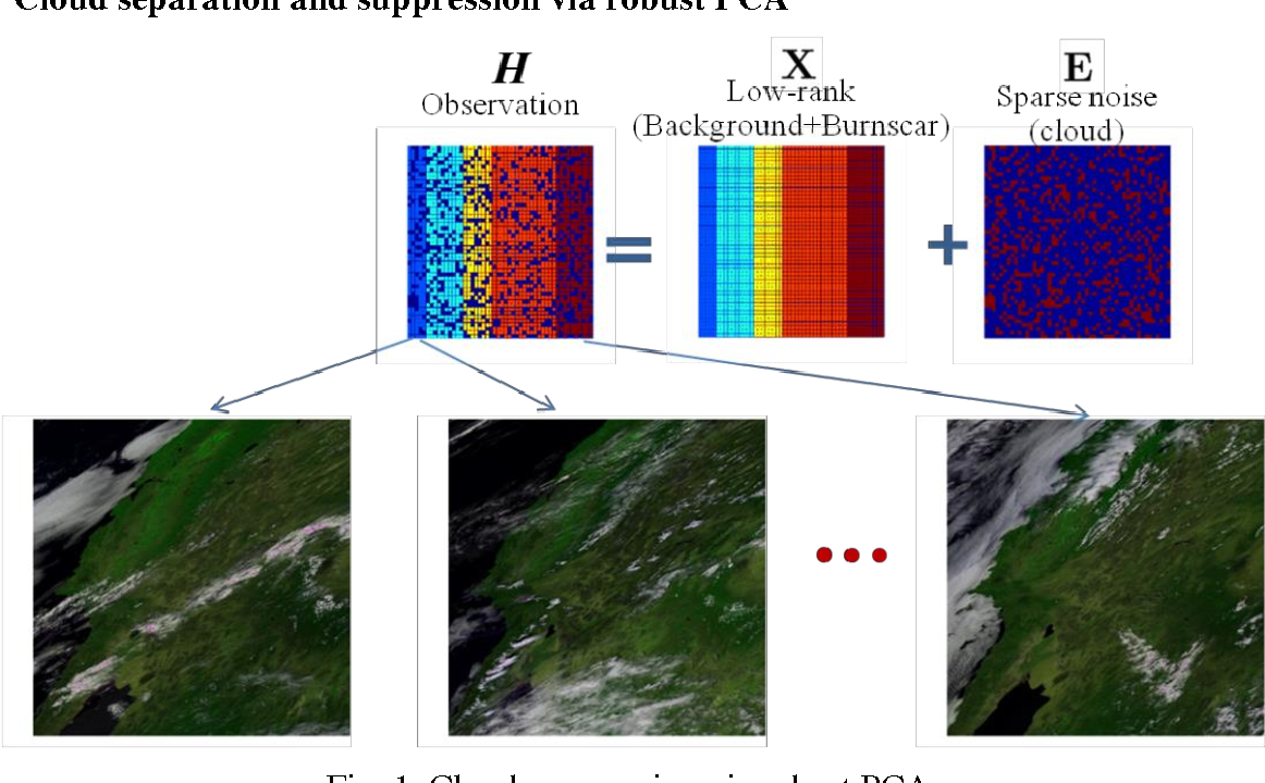Figure 1 for Detecting Burnscar from Hyperspectral Imagery via Sparse Representation with Low-Rank Interference