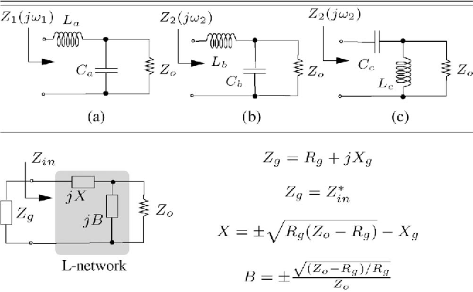 figure 1 from a switchless multiband impedance matching techniqueCircuit Diagram Of The Matching Network With The Equations To #15