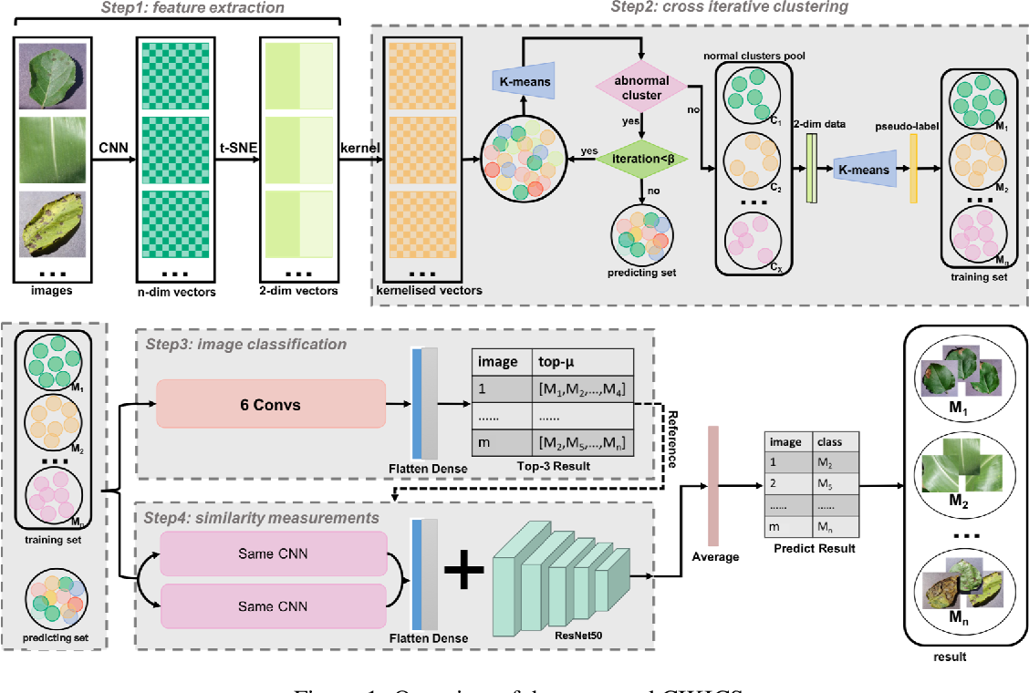 Figure 1 for Chaotic-to-Fine Clustering for Unlabeled Plant Disease Images