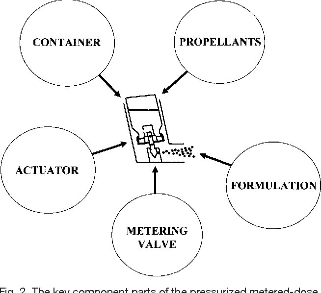figure 2 from principles of metered dose inhaler design semantic Diagram of Chewing Gum the key component parts of the pressurized metered dose inhaler