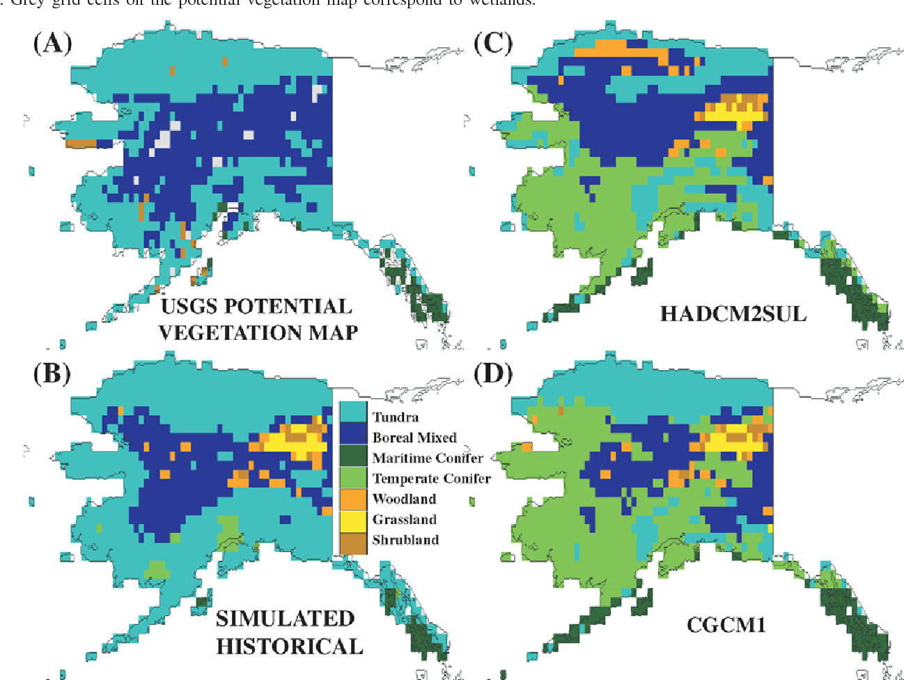 Figure 4 from Simulating the response of natural ecosystems and ...