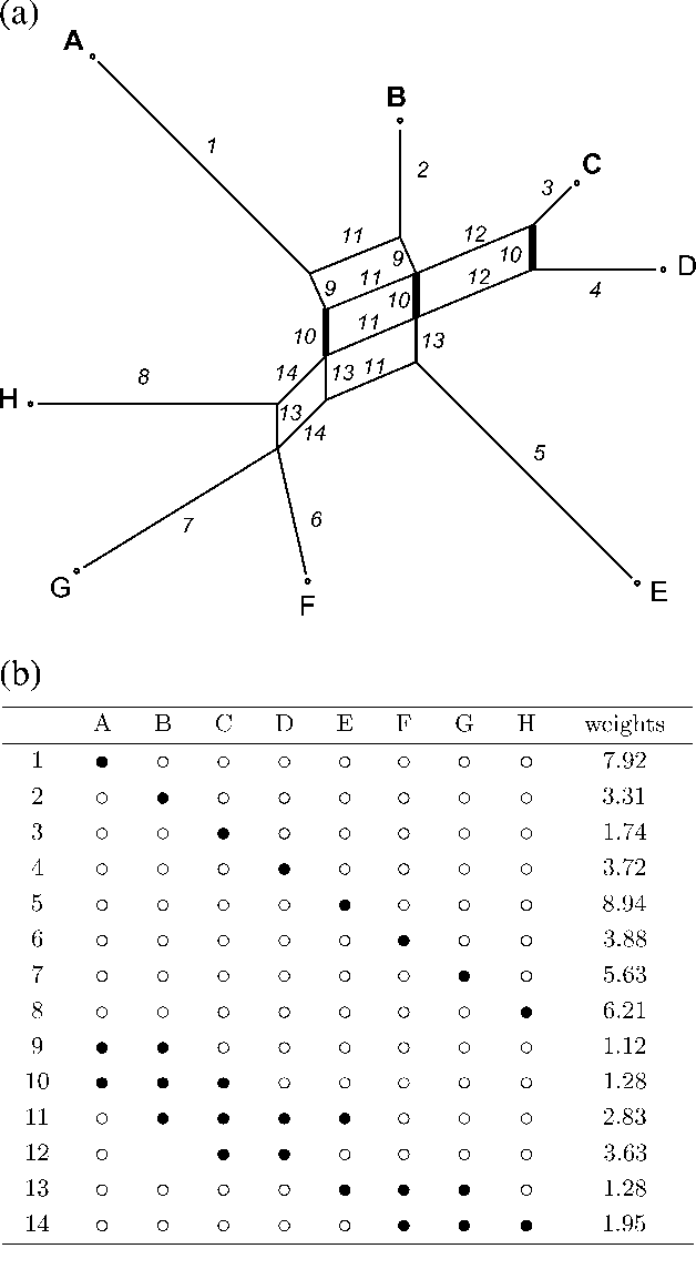 Edges and taxa subsets corresponding subdivisions in a split network