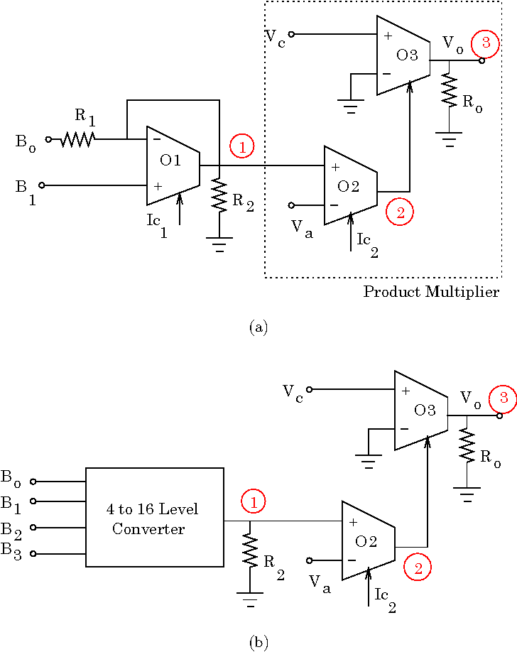 (a) qask (m ¼ 4) modulator circuit using