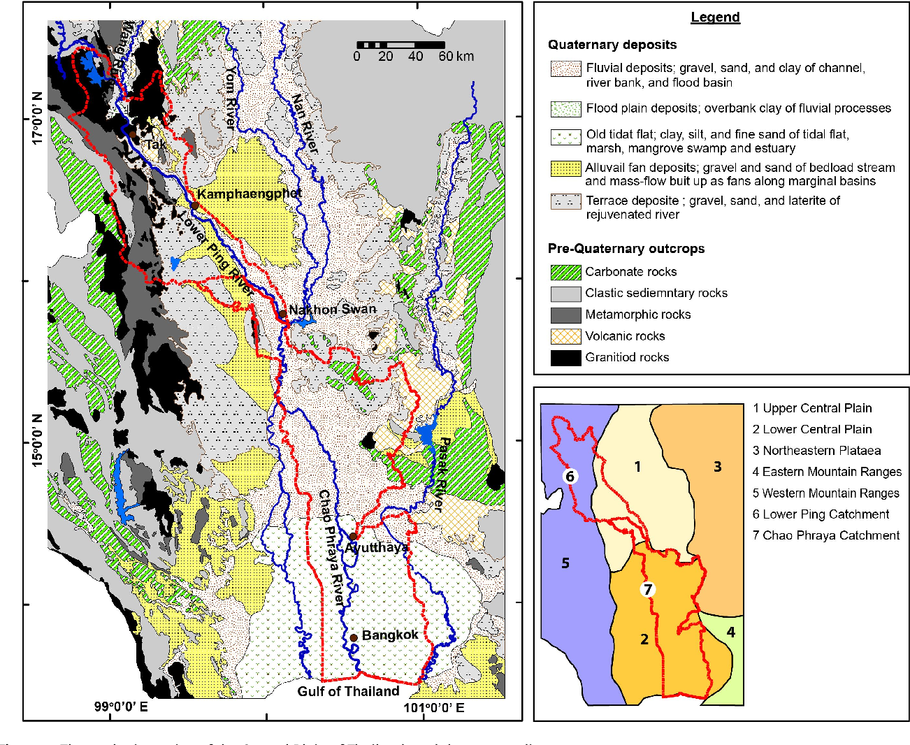 Morphological Changes of the Lower Ping and Chao Phraya Rivers