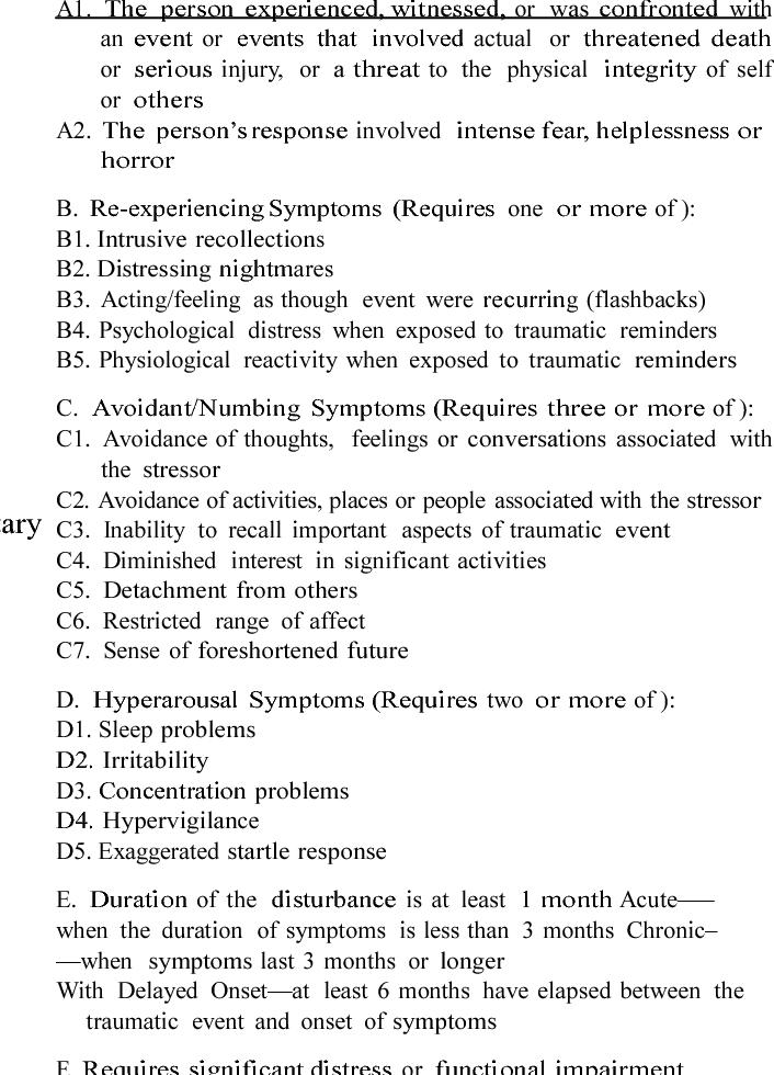 Table 1 from Considering PTSD for DSM-5. | Semantic Scholar