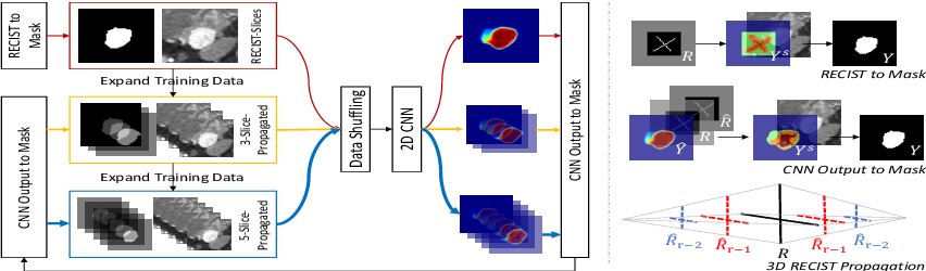 Figure 1 for Accurate Weakly-Supervised Deep Lesion Segmentation using Large-Scale Clinical Annotations: Slice-Propagated 3D Mask Generation from 2D RECIST