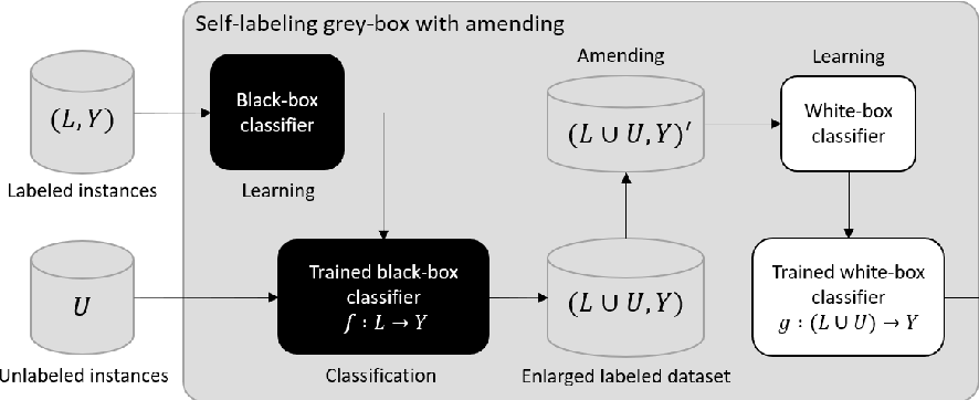 Figure 3 for An interpretable semi-supervised classifier using two different strategies for amended self-labeling