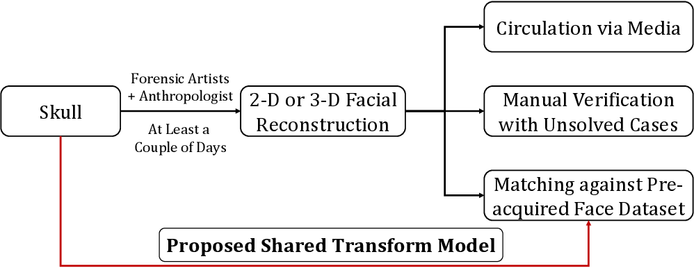 Figure 3 for Learning A Shared Transform Model for Skull to Digital Face Image Matching