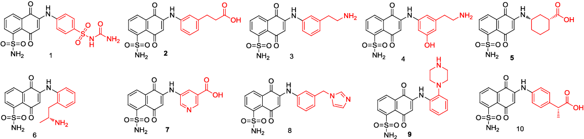 Figure 5. Chemical structures of the linked compounds designed by AMLSD.