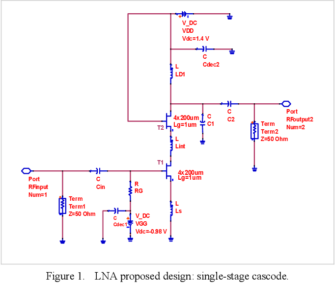 Figure 1 from Design of a wideband low noise amplifier for