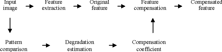 Fig. 4. Flow of feature compensation.