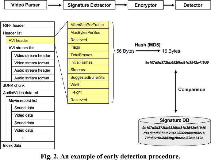Hierarchical system for objectionable video detection