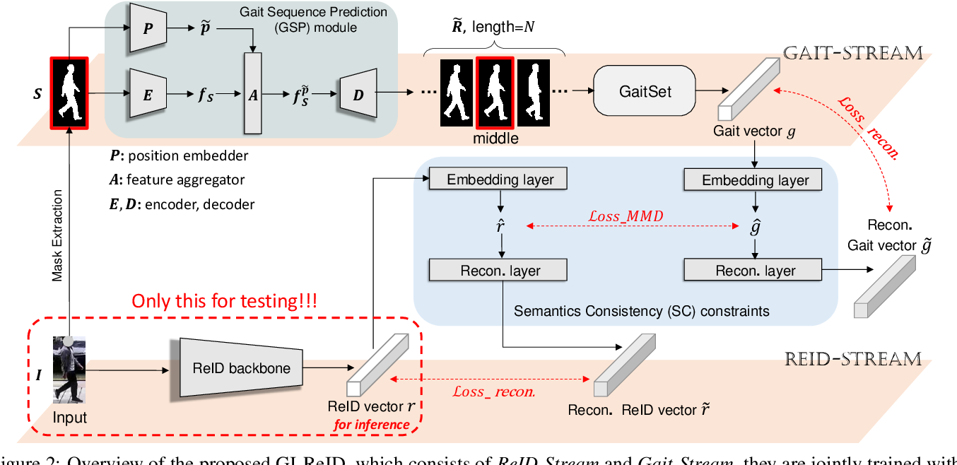 Figure 3 for Cloth-Changing Person Re-identification from A Single Image with Gait Prediction and Regularization