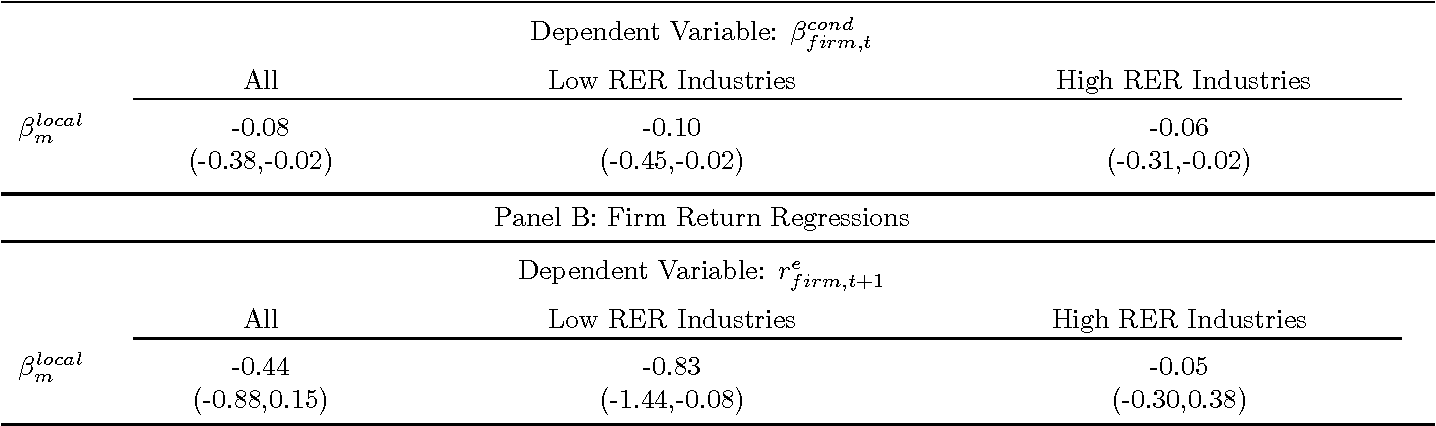 Table 11 Model-Implied Equity Betas and Firm Returns