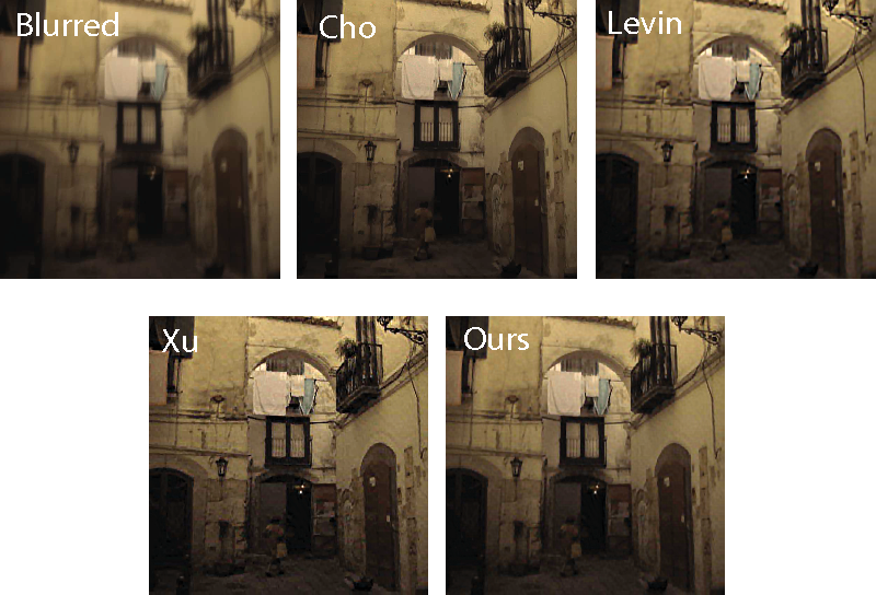 Figure 3 for Blind Deconvolution with Non-local Sparsity Reweighting