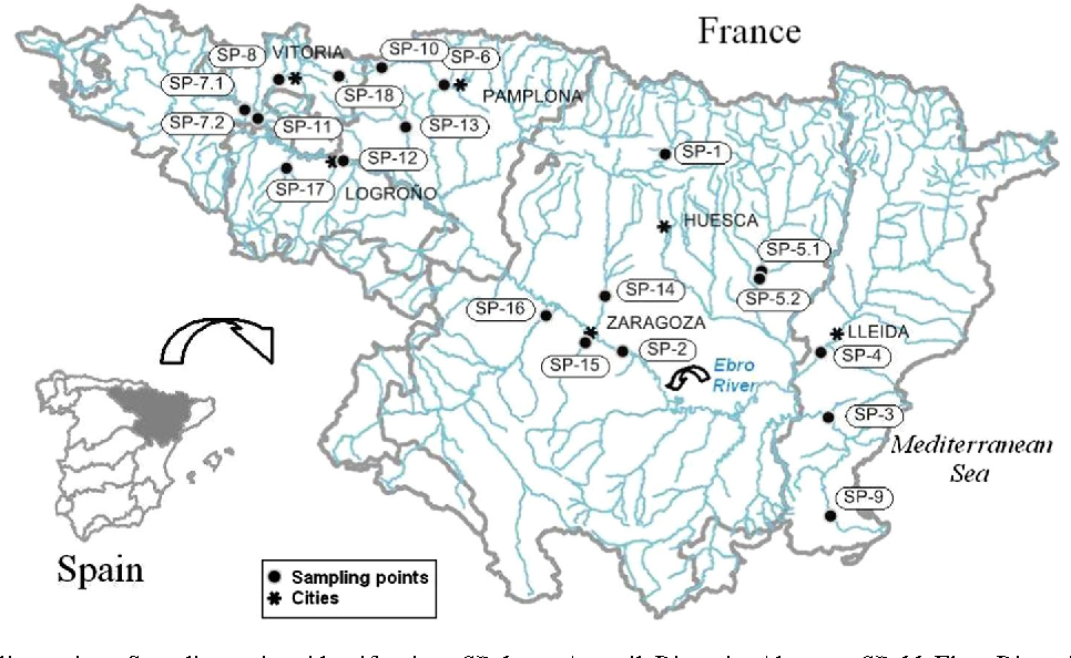 Map Of Spain Ebro River.Figure 1 From Sediment Quality Evolution 2001 2011 In The Ebro