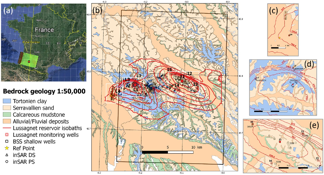 Map 8f France.Figure 4 From Wavelet Based Analysis Of Ground Deformation Coupling