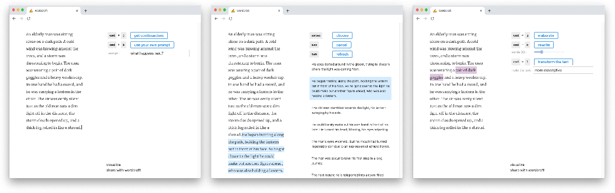 Figure 1 for Wordcraft: a Human-AI Collaborative Editor for Story Writing