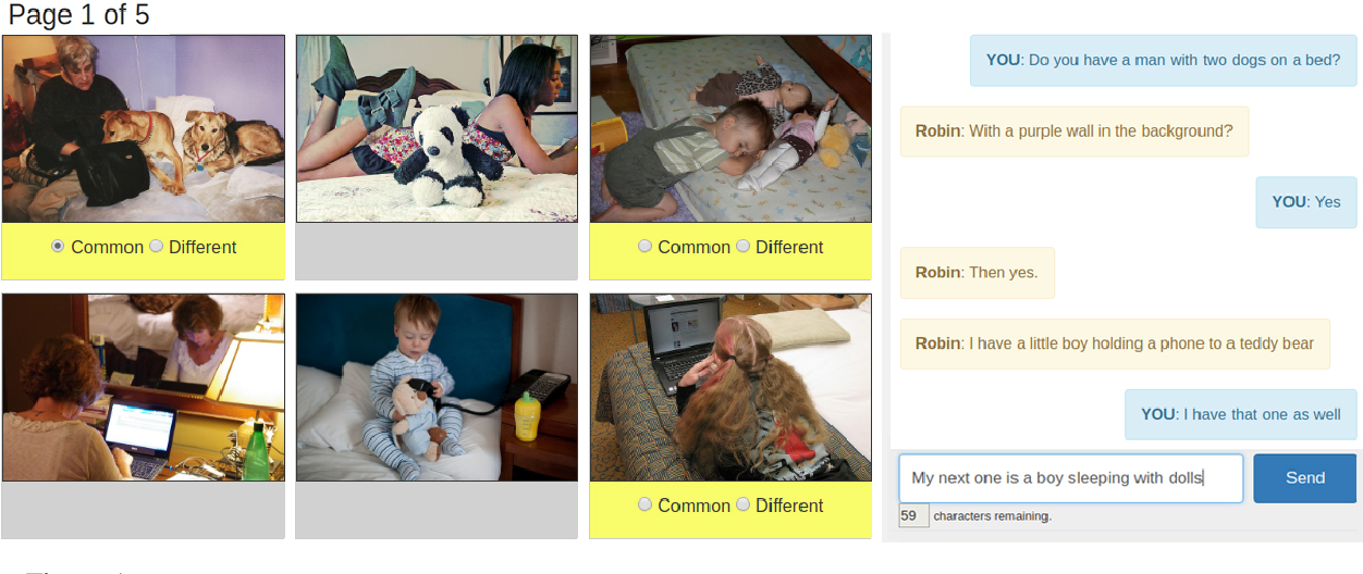 Figure 1 for The PhotoBook Dataset: Building Common Ground through Visually-Grounded Dialogue