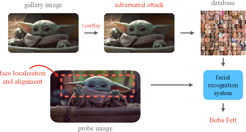 Figure 3 for LowKey: Leveraging Adversarial Attacks to Protect Social Media Users from Facial Recognition