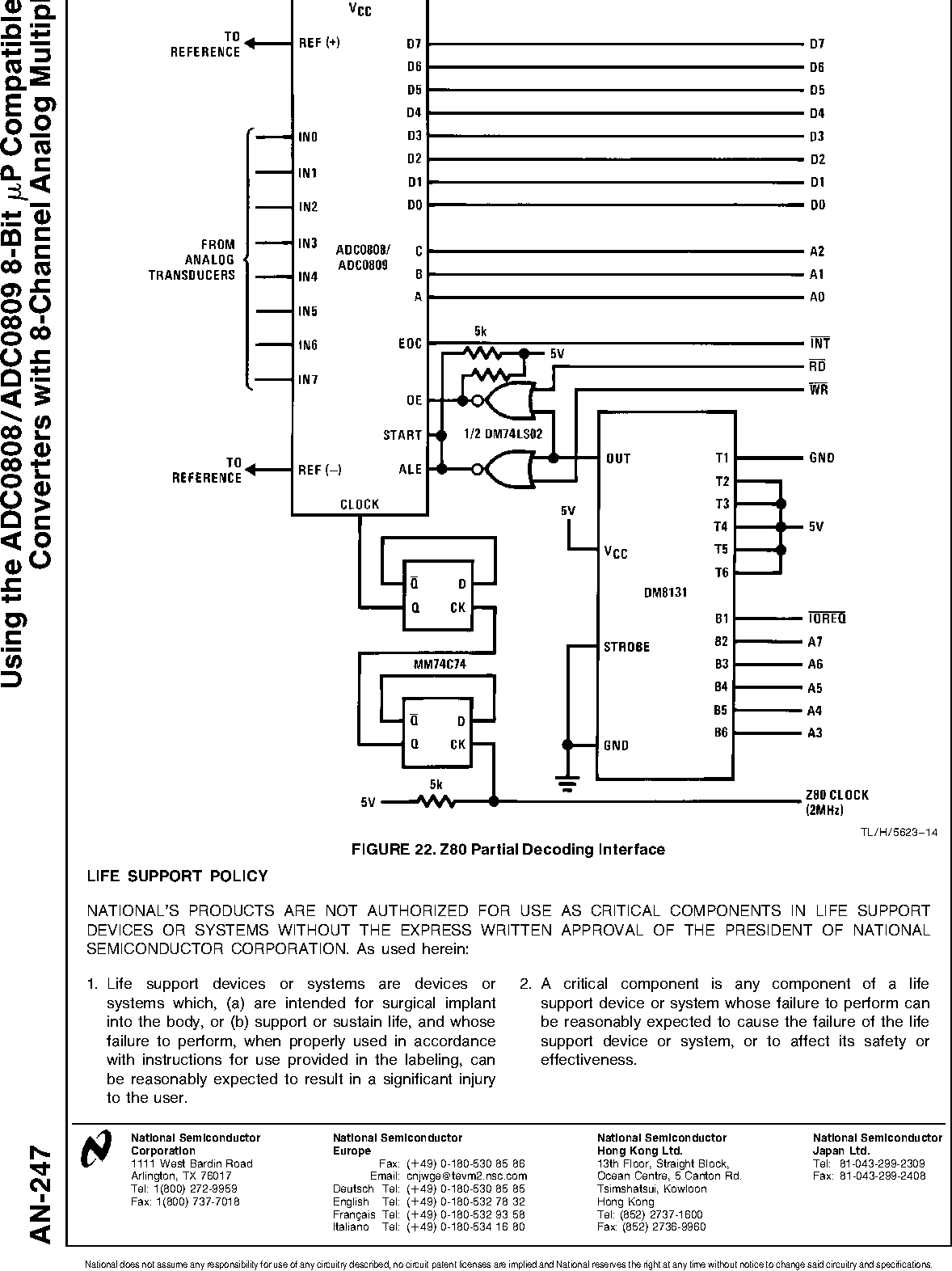 Using the ADC0808/ADC0809 8-Bit MicroP Compatible A/D Converters with  8-Channel Analog Multiplexer - Semantic Scholar