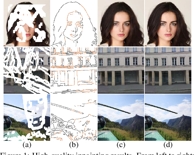 Figure 1 for Image Inpainting via Conditional Texture and Structure Dual Generation