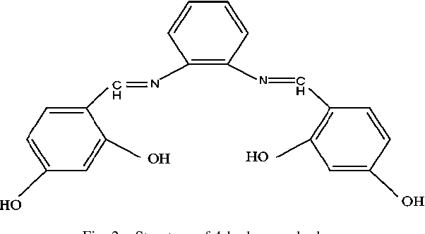 Fig. 2. Structure of 4-hydroxy salophen.