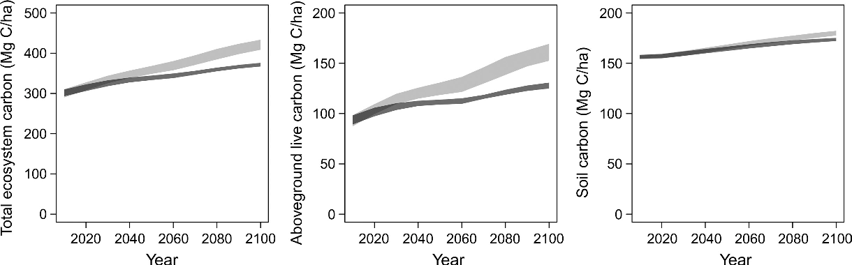Figure 7 from Forest management scenarios in a changing climate