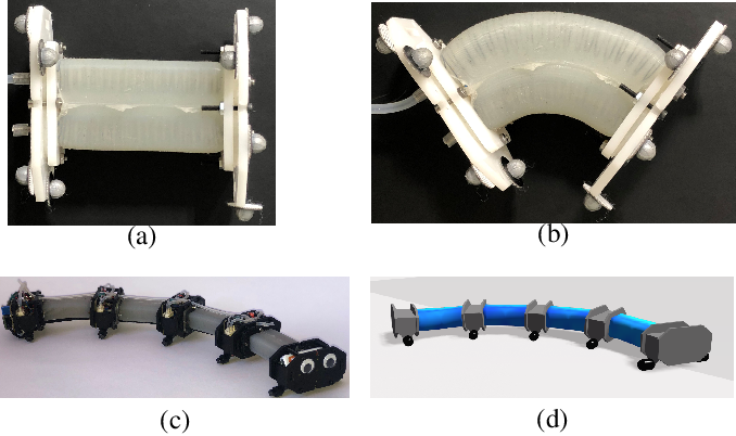 Figure 1 for A Validated Physical Model For Real-Time Simulation of Soft Robotic Snakes